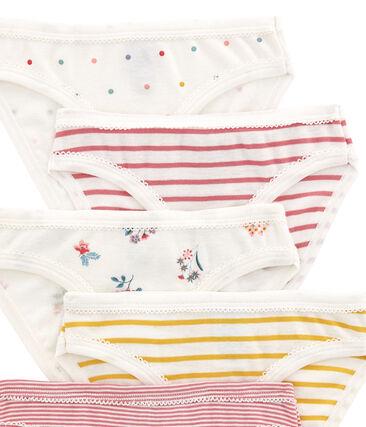 Lotto di 5 culottes per bambina