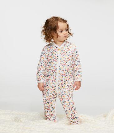 Tutina bebé femmina in ciniglia bianco Marshmallow / bianco Multico