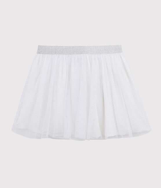 Gonna in tulle bambina bianco Marshmallow / grigio Argent