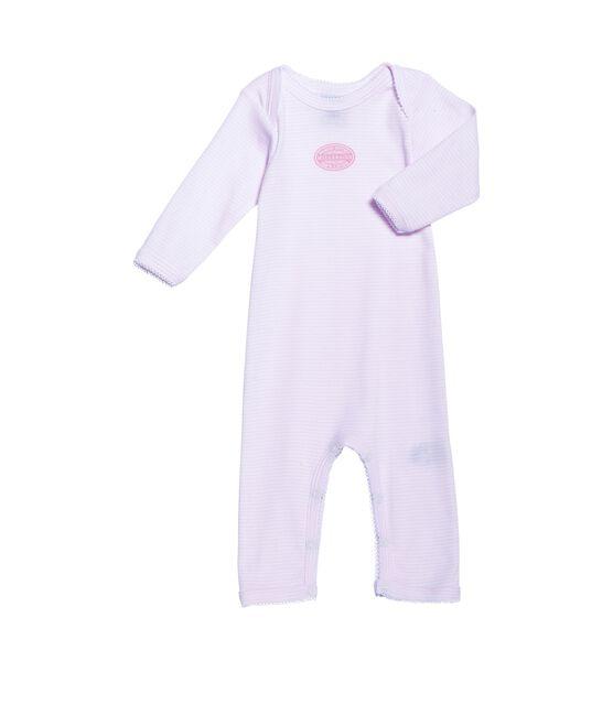 Body lungo bebé bambina millerighe rosa Vienne / bianco Ecume