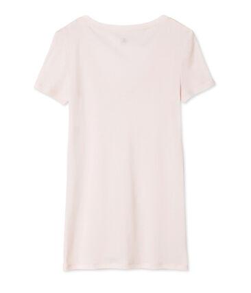 T-shirt a maniche corte con scollo a v donna rosa Fleur