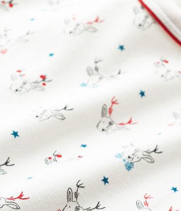 T-shirt per bambino a maniche lunghe stampata bianco Lait / bianco Multico