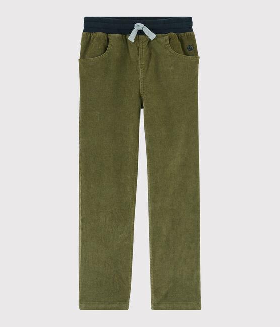 Pantaloni in velluto bambino MILITARY