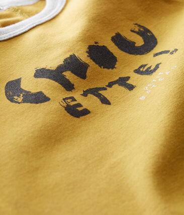 tee-shirtper bebé maschio giallo Inca