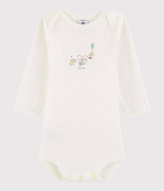 Body manica lunga bebè unisex bianco Ecume /giallo Citrus