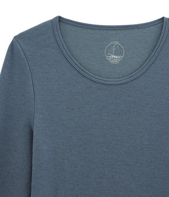 tee-shirt donna maniche lunghe blu Turquin