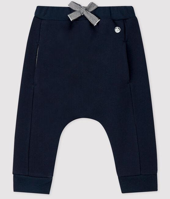 Pantalone bebé in molleton blu Smoking