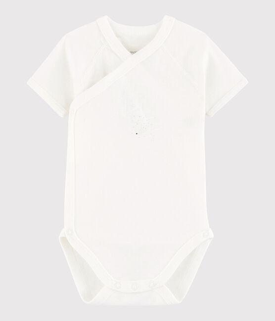 Body incrociato a manica corta bebè unisex MARSHMALLOW/FILANTANE