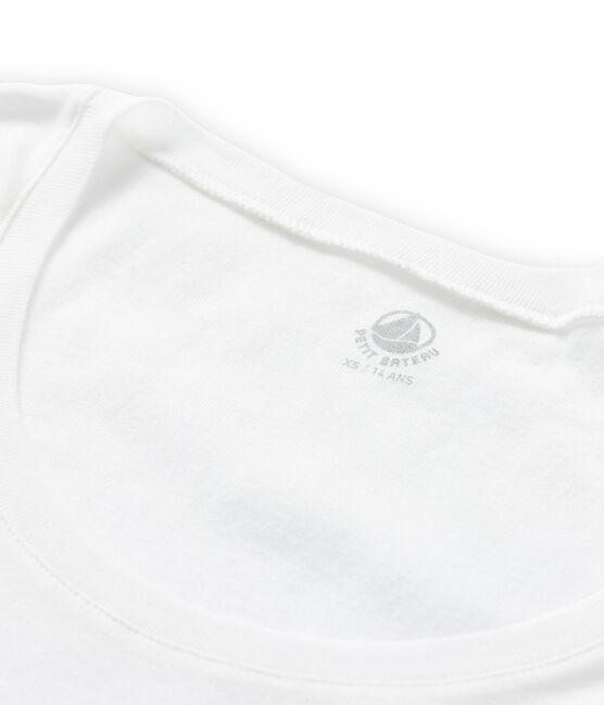 T-shirt donna in cotone leggero bianco Lait