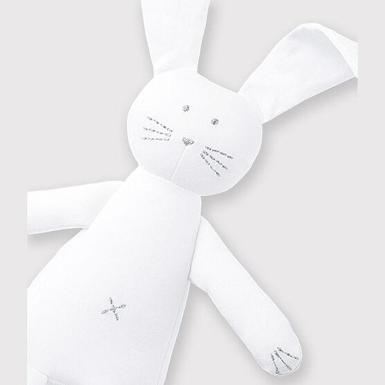 Doudou coniglietto bianco bebè in jersey bianco Ecume