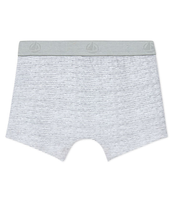 Boxer bambino bianco Ecume / grigio Maki