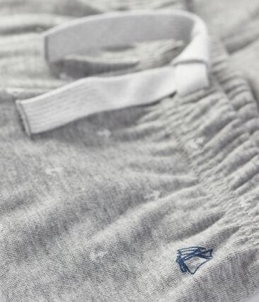Pantalone per bebé maschio grigio Subway / bianco Marshmallow
