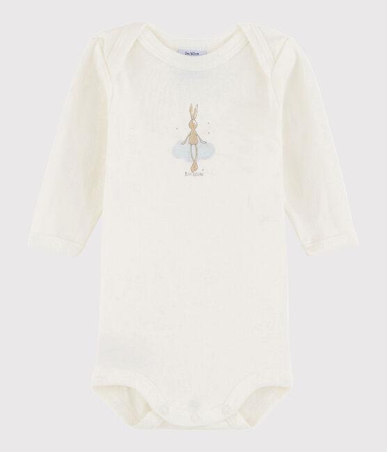 Body manica lunga bebè maschietto bianco Lait