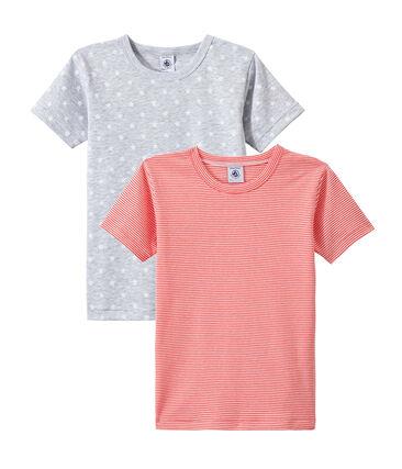 Lotto di 2 t-shirts per bambino a maniche corte lotto .