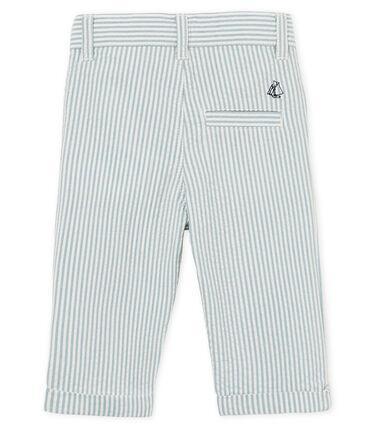 Pantalone maschietto a righe blu Fontaine / bianco Marshmallow