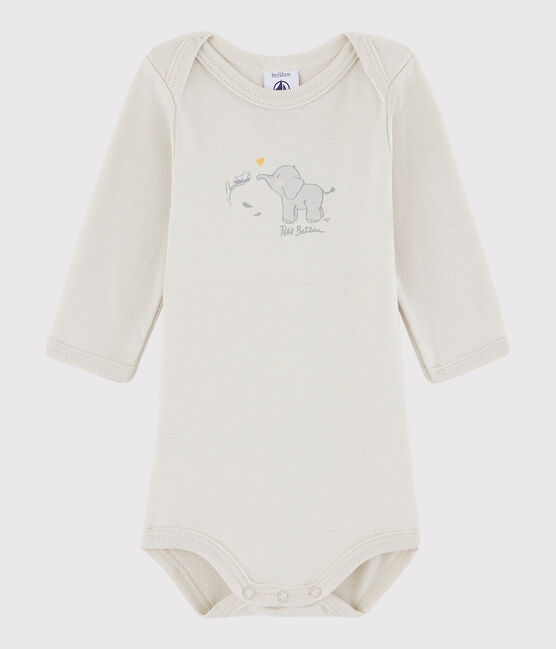 Body manica lunga bebè unisex grigio Neutre