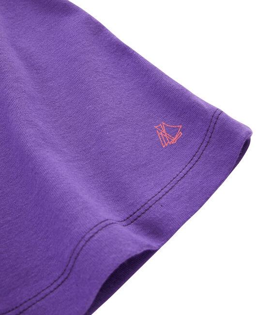 Bermuda in maglia bambina viola Real