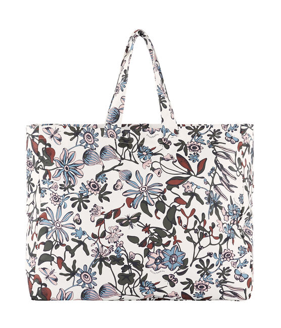 Borsa shopper fantasia bianco Marshmallow / bianco Multico