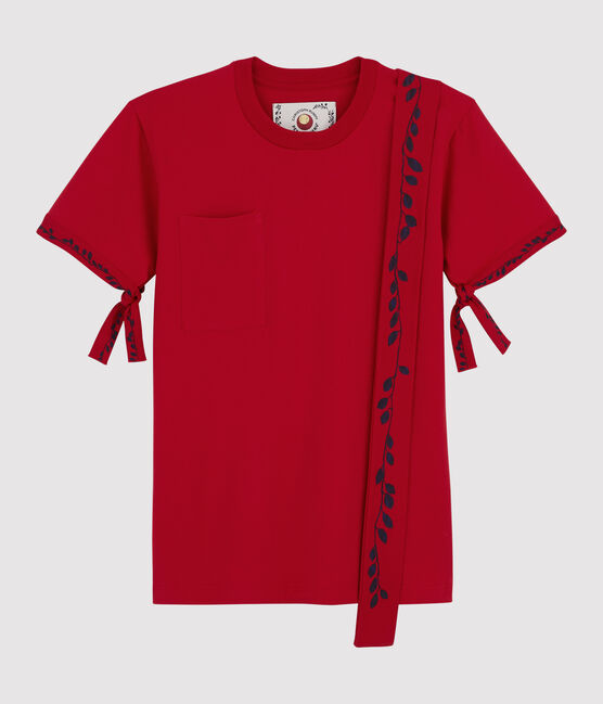 T-shirt Donna/Uomo Christoph Rumpf x Petit Bateau rosso Terkuit