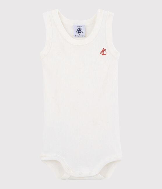 Body senza maniche bebè unisex bianco Marshmallow