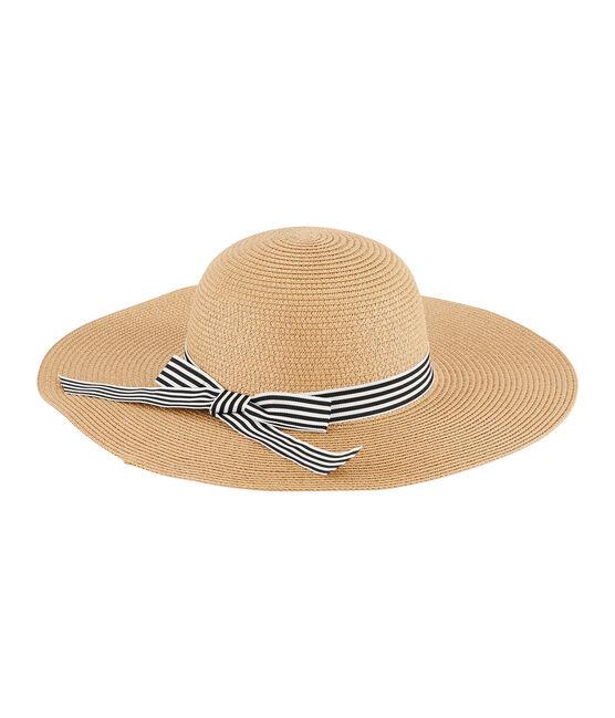Cappello di paglia donna rosa Naturel
