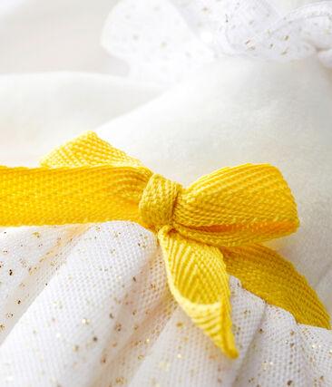 Doudou coniglietto ballerina bianco Marshmallow / giallo Dore