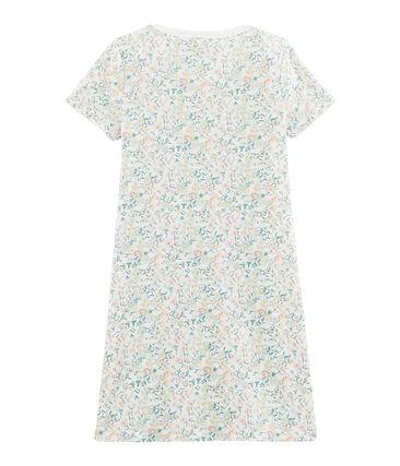 Camicia da notte bambina a costine bianco Marshmallow / bianco Multico