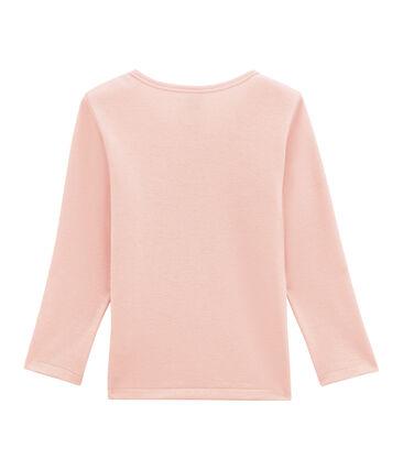 tee-shirta maniche lunghe per bambina in lana e cotone