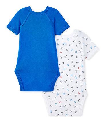 Lotto di 2 bodies nascita per bebé maschio a maniche corte