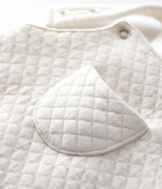 Salopette lunga neonato in tessuto tubico grigio Montelimar Chine