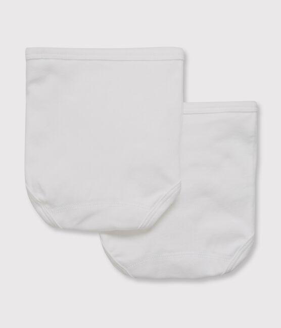 Confezione da 2 slip bianchi bebè lotto .