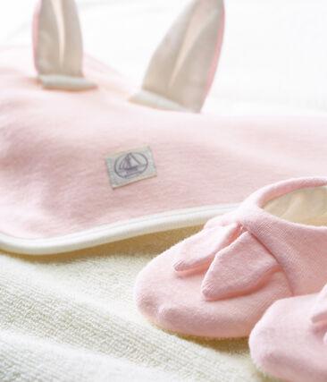 Cofanetto asciugamano quadrato da bagno e babbucce bebè unisex