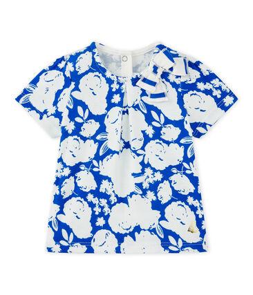 T-shirt bebé bambina stampata bianco Marshmallow / bianco Multico