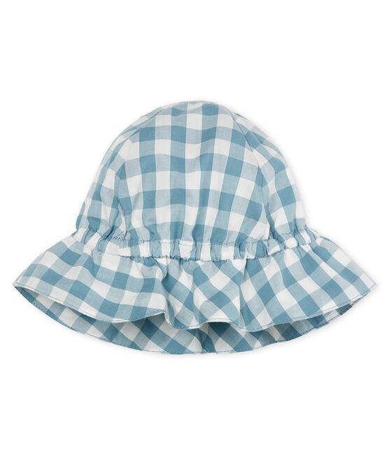 Cappello bebè unisex blu Fontaine / bianco Marshmallow