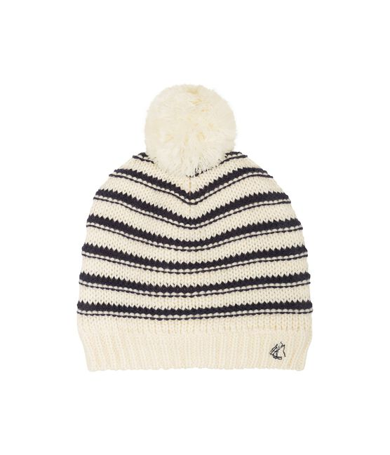 Cappellino bambina bianco Marshmallow / blu Smoking