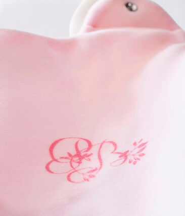 Sacco nanna in ciniglia tinta unita per bebé femmina