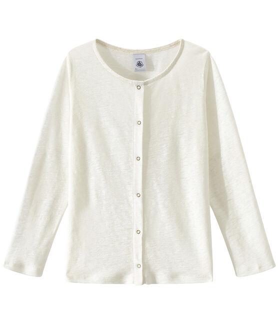 T-shirt per bambina bianco Lait / giallo Or