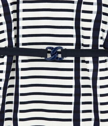 Abito kimono bianco Marshmallow / blu Smoking