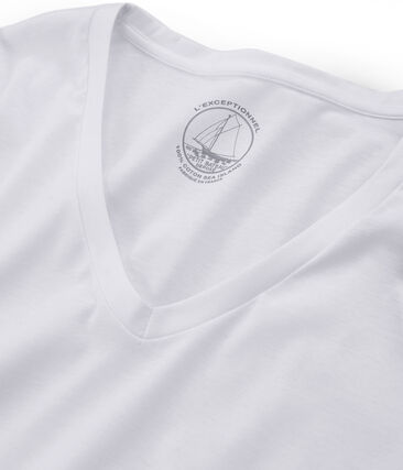 T-shirt manica lunga in cotone Sea Island donna bianco Ecume