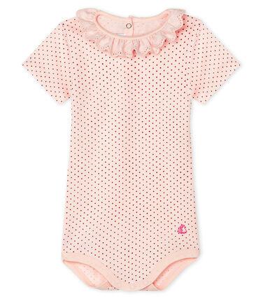 Body con colletto rotondo arricciato bebè femmina rosa Fleur / rosa Copper