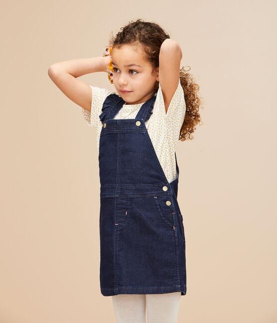 Abito salopette bambina blu Denim Bleu Fonce