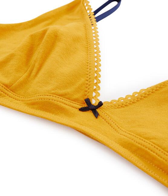 Reggiseno a triangolo donna giallo Boudor