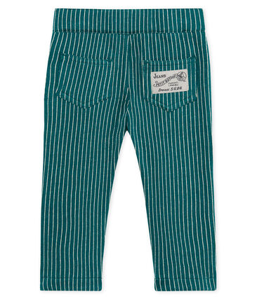 Pantalone maschietto in maglia a righe