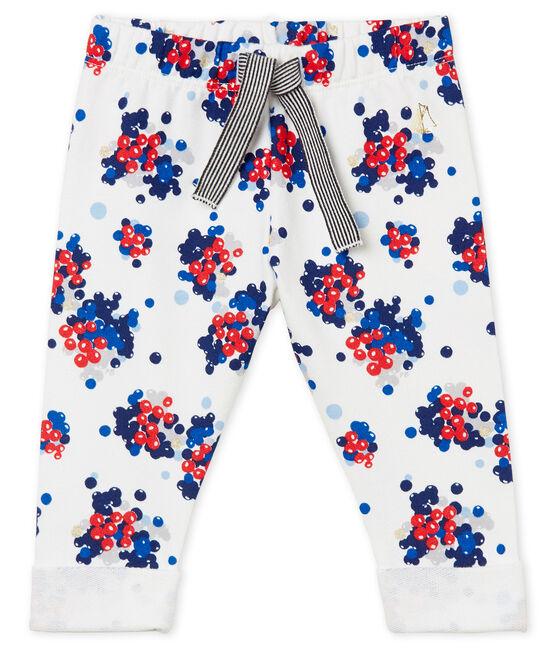 Pantalone stampato per bebé femmina bianco Marshmallow / bianco Multico