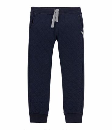 Pantalone in tubique matelassé per bambino blu Smoking