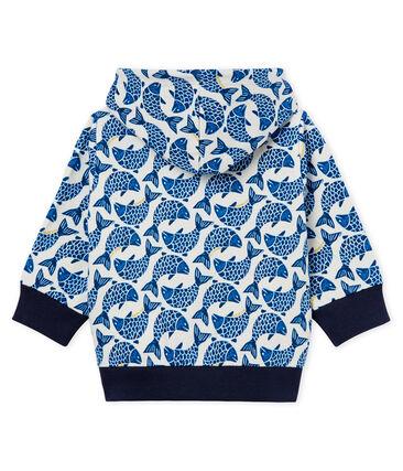 Felpa con cappuccio zippato neonato maschietto in jersey fantasia
