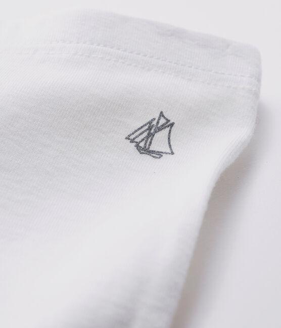 Leggings bebè femmina a costine 1x1 in tinta unita bianco Marshmallow