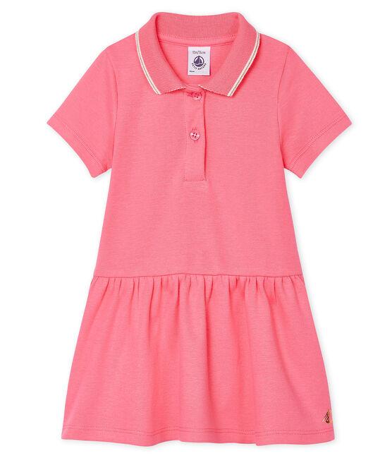 Abito a polo bebè femmina rosa Cupcake