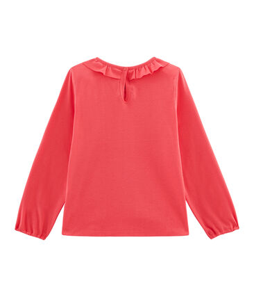 T-shirt maniche lunghe bambina rosso Signal