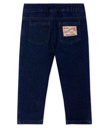 Pantaloni in maglia effetto denim per neonati blu Jean